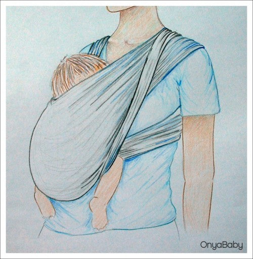 Choose a wrap, sling, soft-structured baby carrier that will support your baby.