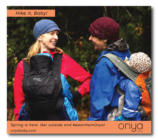 Onya Baby loves Hike it Baby! We're both all about getting active and social, while being outdoors and in nature. Wear them Onya, into the woods.
