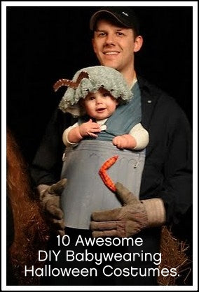 Father and child wearing home made Halloween Costume