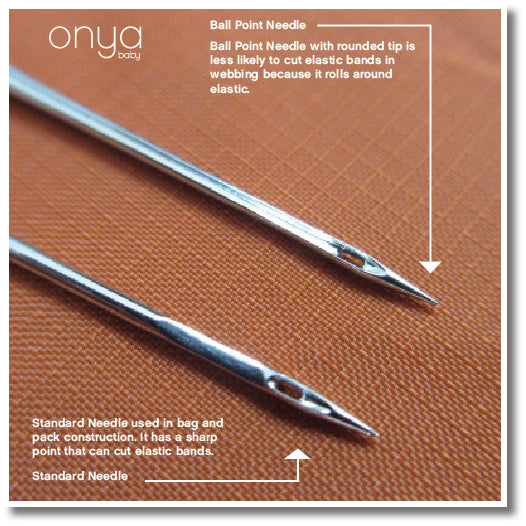 Type of needle used in Onya Baby manufacturing