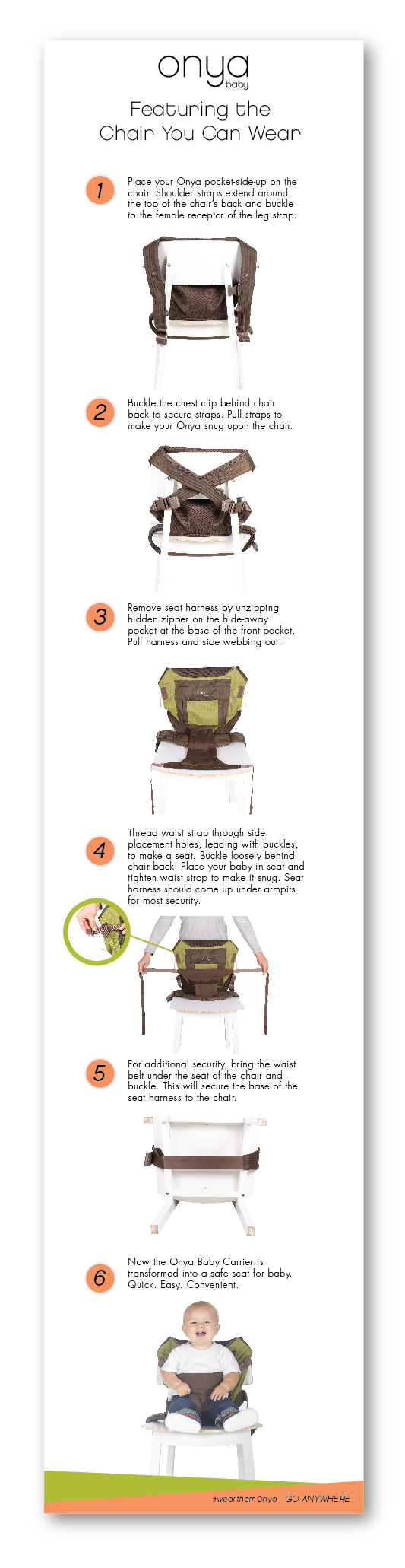 How to convert Onya Baby carrier to a high chair