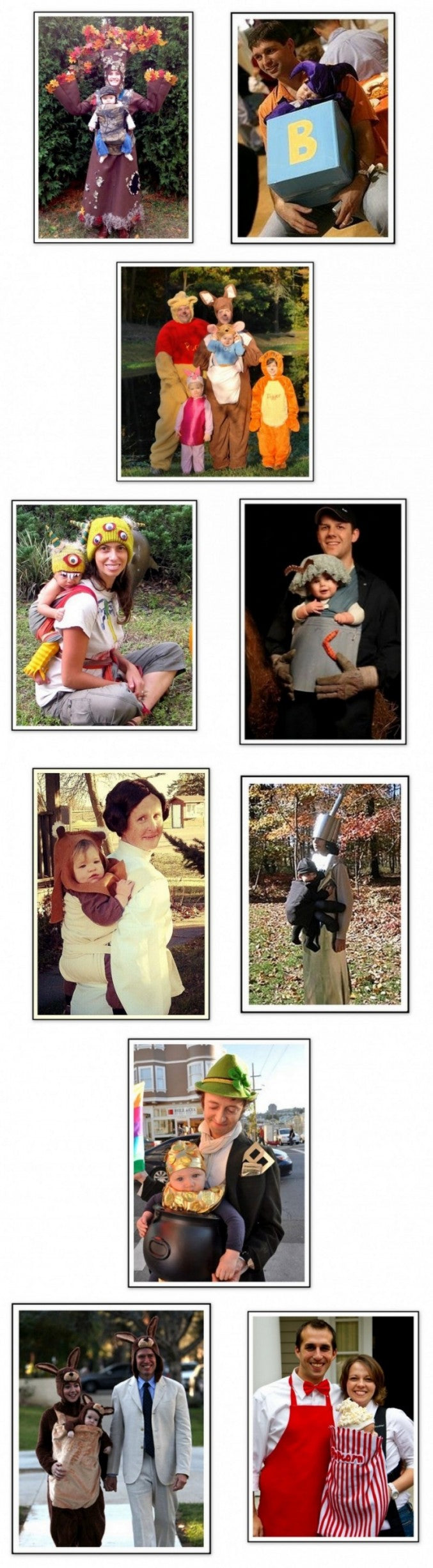 Incorporate your baby carrier as a part of your awesome DIY Halloween babywearing costume.