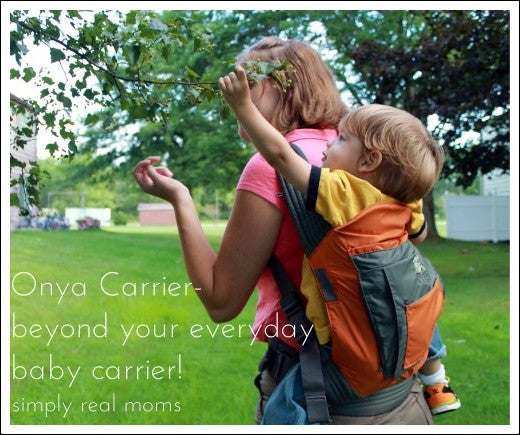 Simple Real Mom with child in Onya Baby Carrier