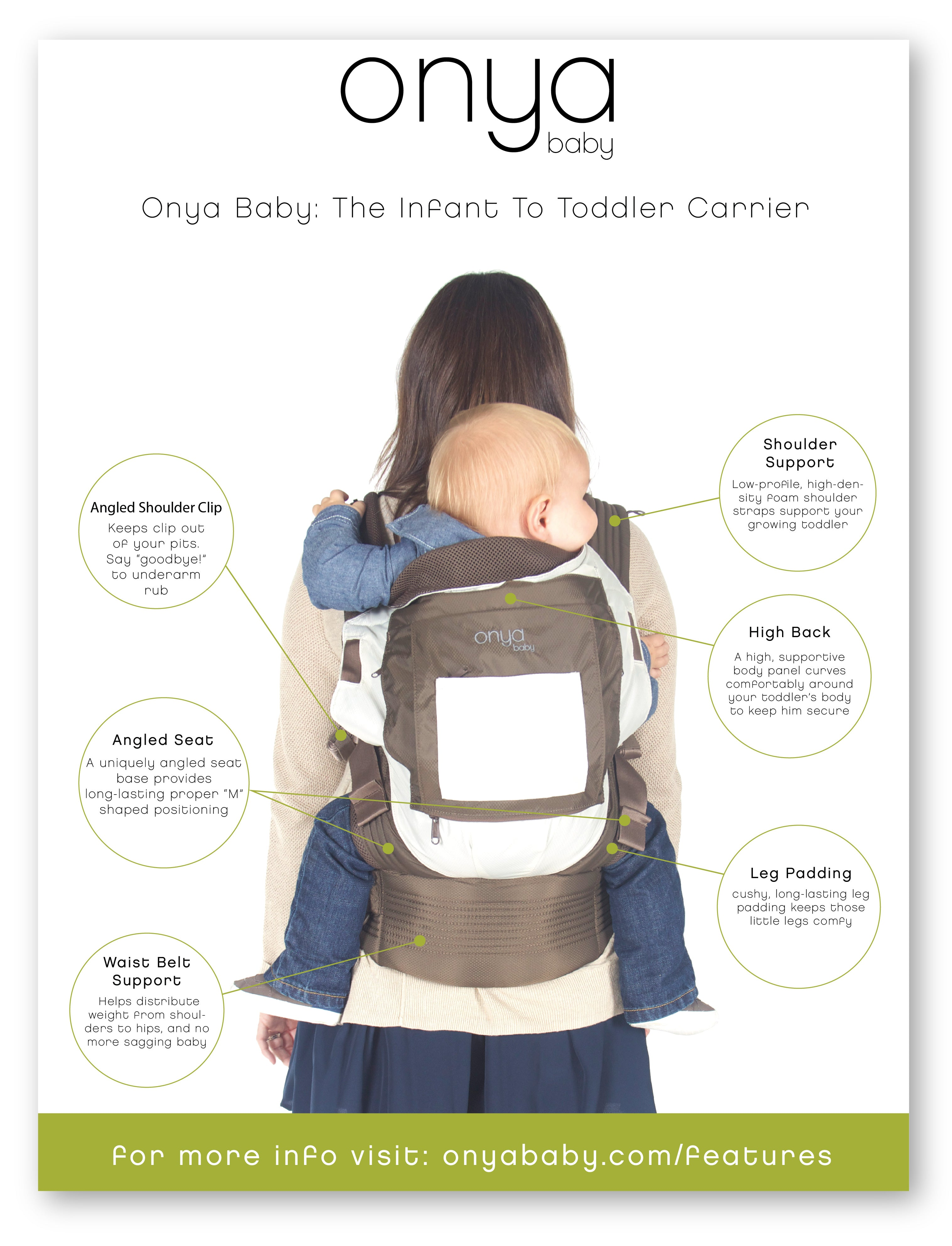Looking for a great toddler carrier? An Onya already IS one!