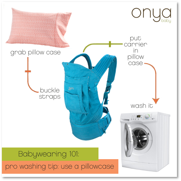 Quck washing tips for your Onya Baby Carrier