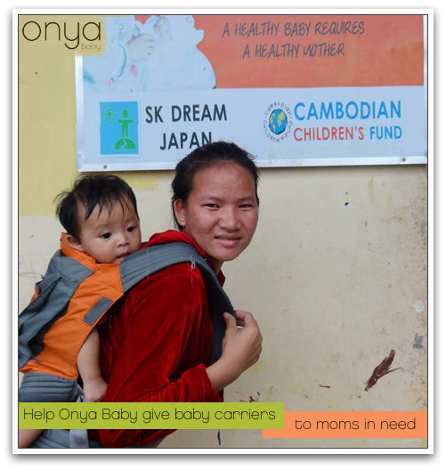 Help Onya Baby give carriers to moms in need