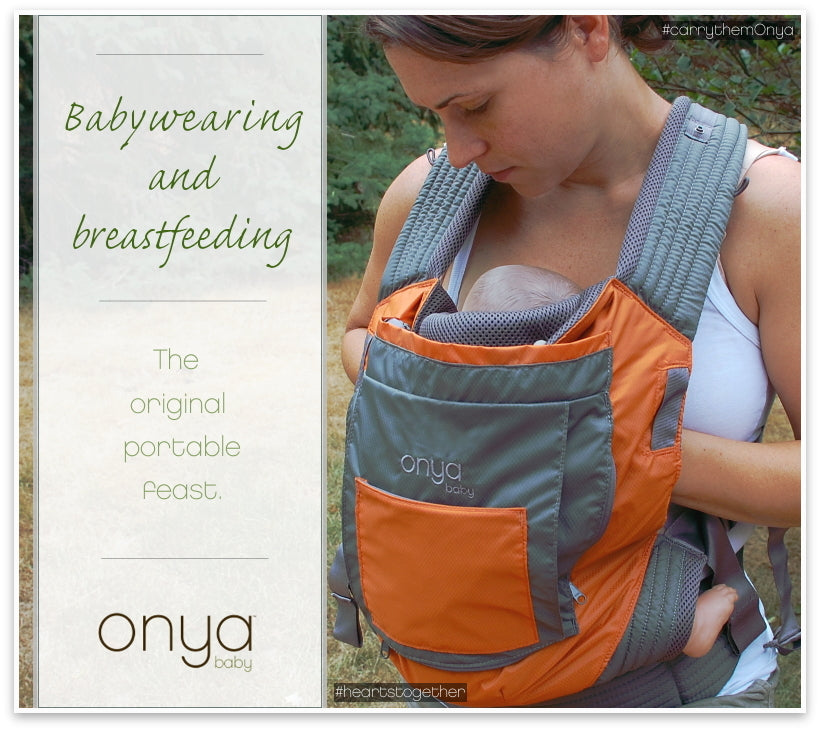 Babywearing and breastfeeding are perfect partners.