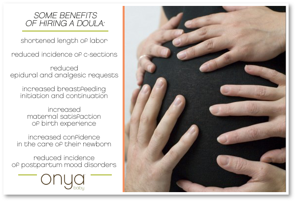 A list of benefits of hiring a doula