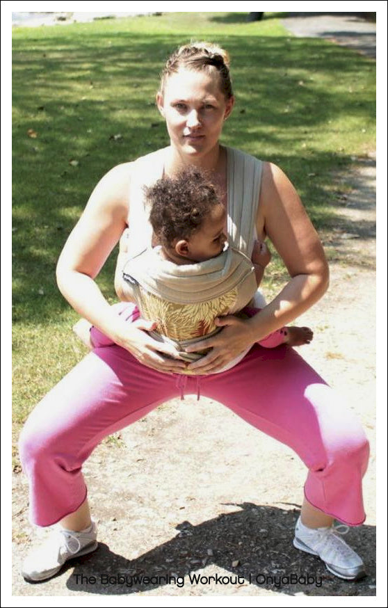 Babywearing Exercise Squat 2