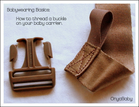 How to thread a buckle on a baby carrier
