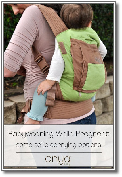 Continue babywearing while pregnant