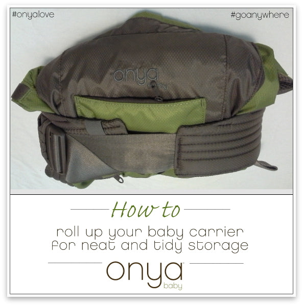 How to roll your Onya Baby carrier for tidy storage