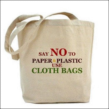 A cloth bag to replace paper and plastic bags
