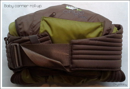 How to roll your Onya Baby carrier for tidy storage - Step 3