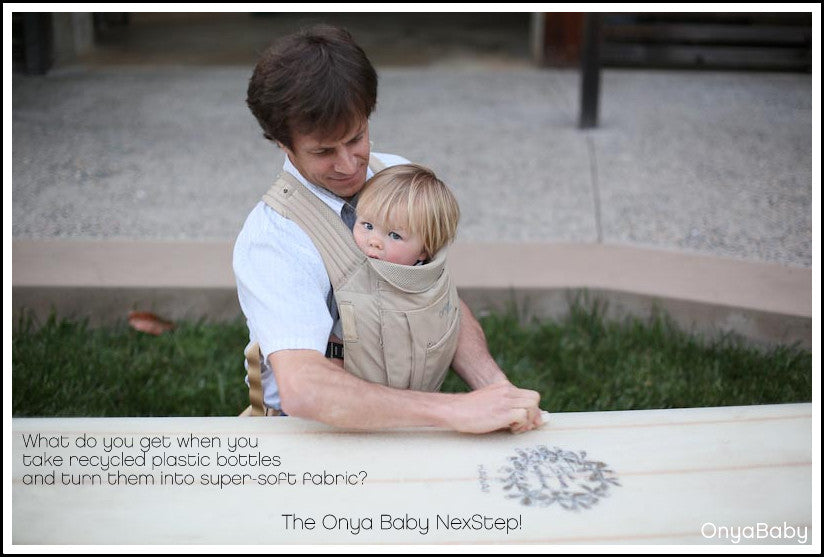 Troy with child in Onya Baby NexStep baby carrier