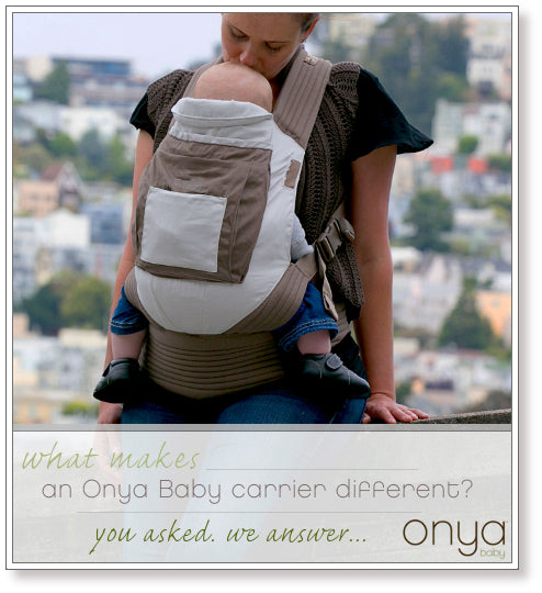 Explaining what makes an Onya Baby carrier different from other baby carriers