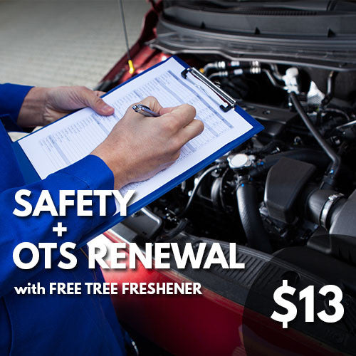 EXCLUSIVE DEAL:  Safety + OTS Renewal + Free Tree-Freshener $13.00