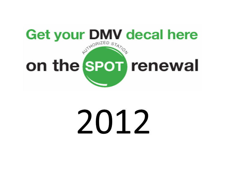 DMV Registration Renewal 2012