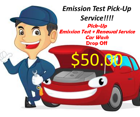 Emission Test Pick-Up Service