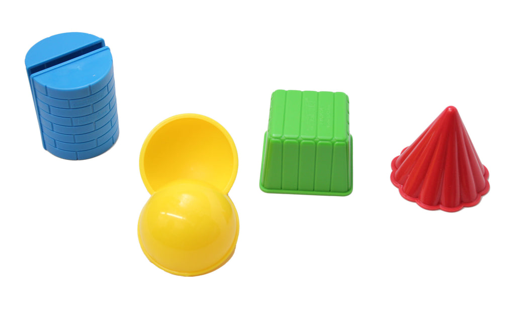 3D Geometric Shapes - Solid Play Doh and Moving Sand Molds