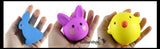 Easter Squishy Set of 3 - Cute Bunnies and Chick Squishy Slow Rise Bunny -  Scented Sensory, Stress, Fidget Toy - Easter Rabbit
