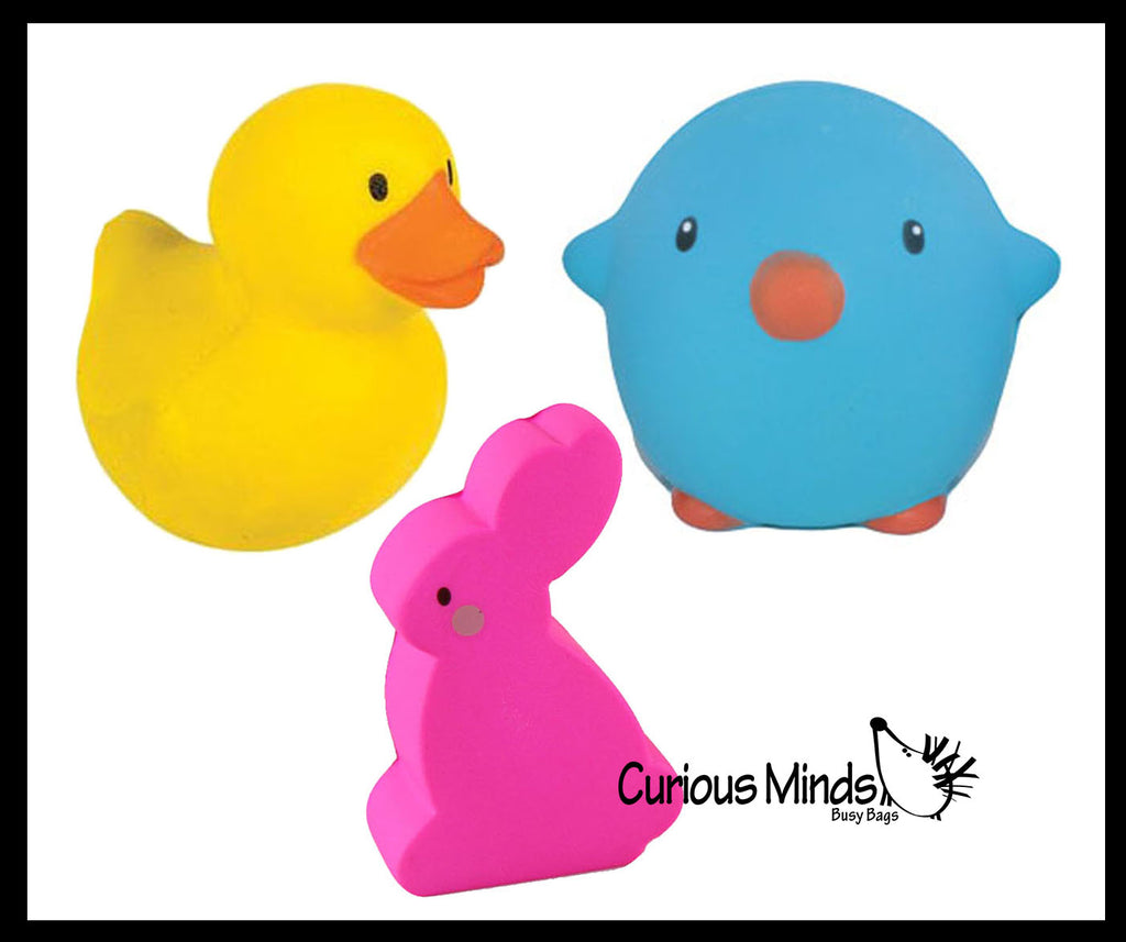 Easter Squishy Set of 3 - Cute Ducky, Bunny, and Chick Squishy Slow Rise -  Scented Sensory, Stress, Fidget Toy - Easter
