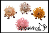 TINY Animal Puffer Balls - Set of 4 -  Sensory Fidget Toy