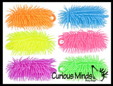 "6"" Puffer Worms - Sensory Fidget and Soft Hairy Air-Filled Stress Balls - OT Autism SPD"