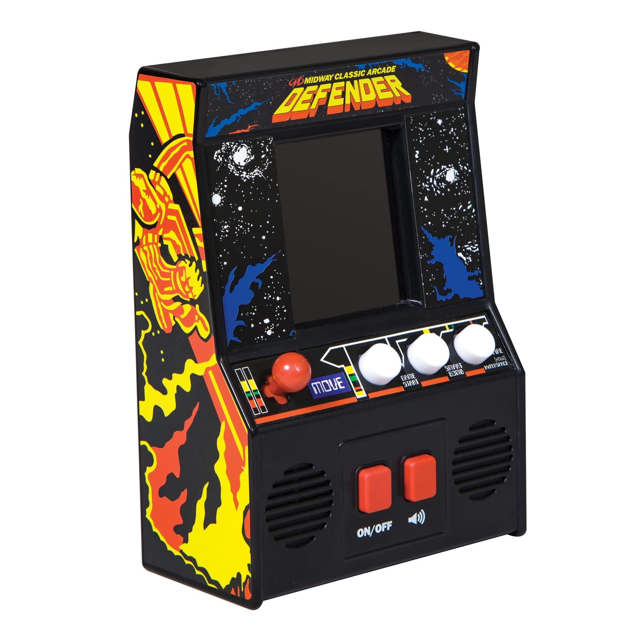 Defender - Handheld Arcade Game - Battery Operated Mini Fun Retro Classic Video Game