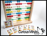 Wooden Melissa and Doug Abacus with Pattern Cards