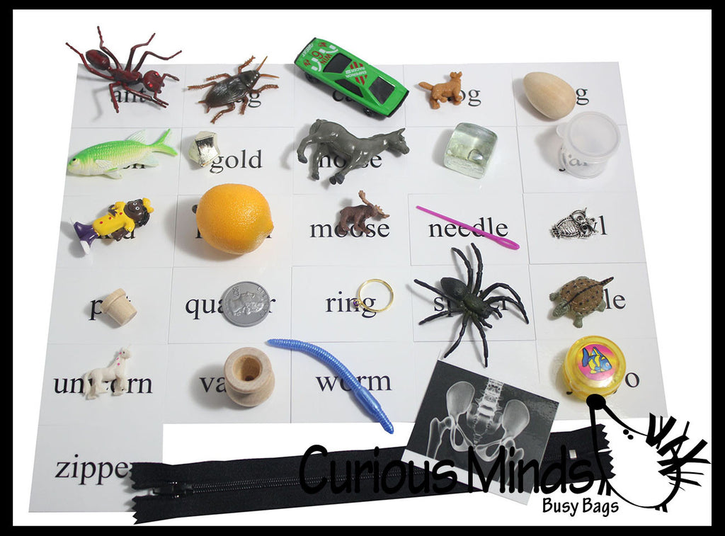 Alphabet Objects - Beginning Letter Sounds Set 1 -  Alphabet miniatures to use with movable alphabet