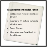 "Large 8.5""x11"" Binder Pouch Upgrade"