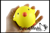 Cute Squishy Slow Rise Chick -  Scented Sensory, Stress, Fidget Toy - Easter Chicks