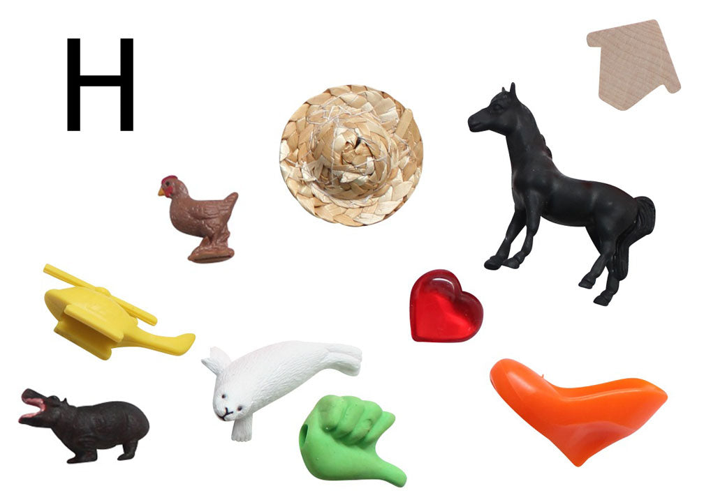 z ALPHABET OBJECTS BY LETTER H