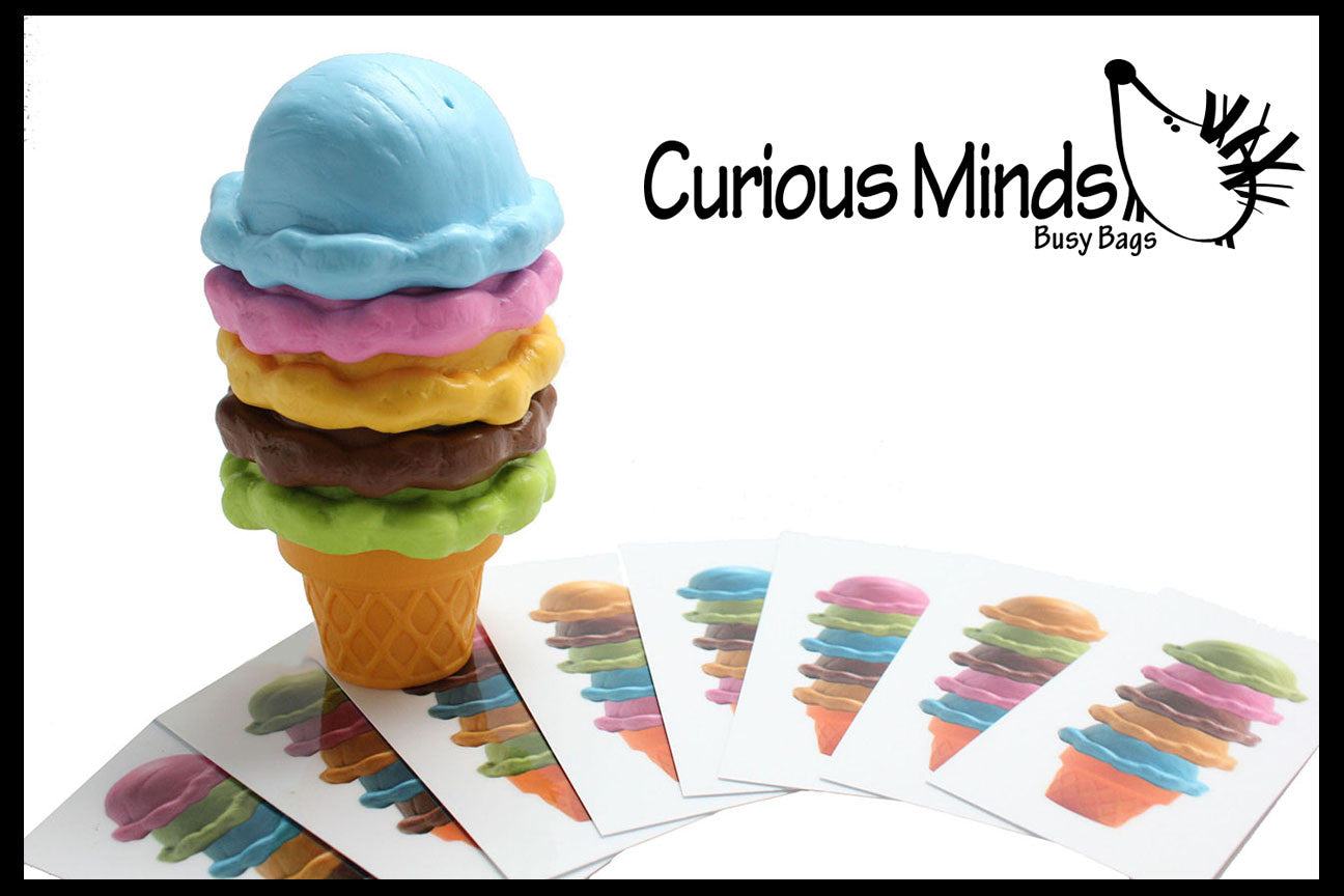 Ice Cream Cone with Pattern Cards - Pretend Play Food Game