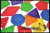 20 Random Jumbo Lacing Buttons Busy Bag - Perfect fine motor learning activity for toddlers and preschoolers.