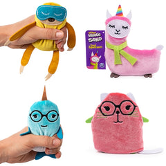 Kinetic Sand-Filled Stress Ball Animal Squeeze'meez- Squish Stretchy Soft Moving Sand-Like  putty/dough/slime