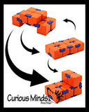 Infinity Cube - Magic Endless Folding Fidget Toy - Flip Over and Over - Bend and Fold Crazy Shapes Puzzle - ADD Anxiety