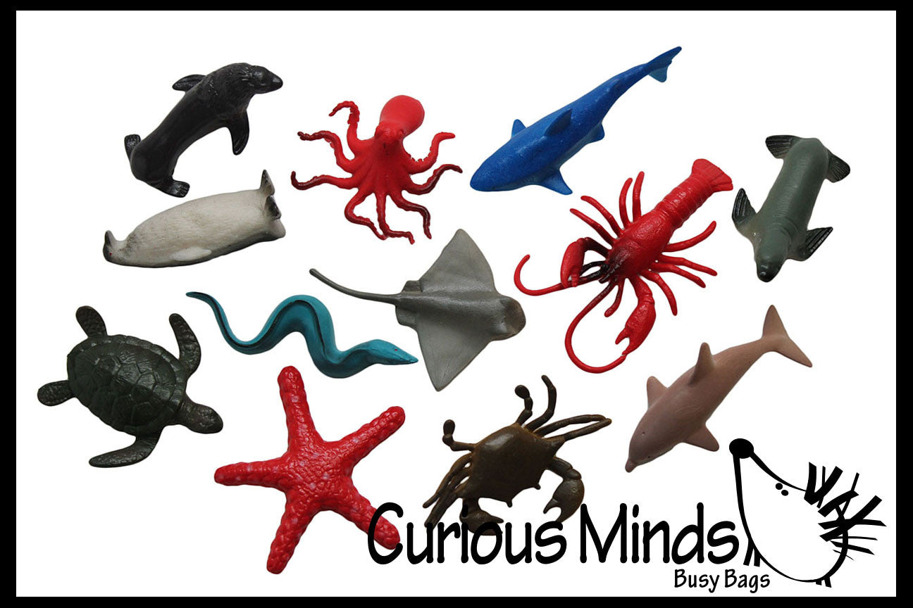 Ocean Sea Life Animal Figurines - Mini Animal Action Figures