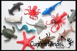 Ocean Sea Life Animal Figurines - Mini Animal Action Figures Replicas - Miniature Ocean, Fish, Aquatic Toy Animal Playset