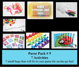 SALE - Purse Packs - Tiny Pack-able Activities You can take with you