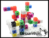 CLEARNANCE - SALE - Linking blocks and building baseboard - 2cm connecting cubes - Building block toy set