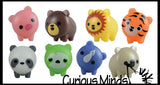 Cute Mini Animal Figurines - Mini Toys - Easter Egg Filler - Small Novelty Prize Toy - Party Favors - Gift - Bulk 2 Dozen