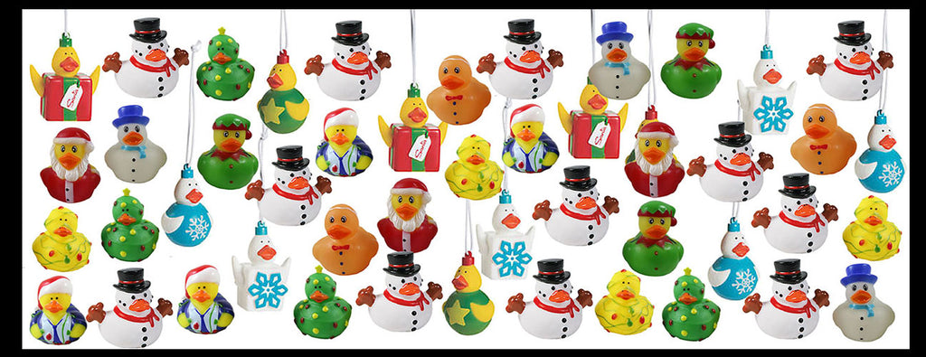 48 Rubber Duckie Christmas Bundle Set - Ornaments - Ducks - Cute Holiday Party Favor Decoration Gifts (4 Dozen)