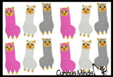 Alpaca / Llama Adorable Erasers - Novelty and Functional Adorable Eraser Novelty Treasure Prize, School Classroom Supply, Math Counters - Sorting - Party Favor