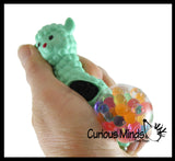 Alpaca Squishy Blob Mesh Ball with Soft Web - Squishy Fidget Ball