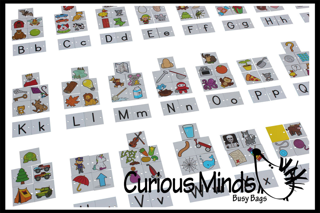 Alphabet Object Tiles - Sorting for Pocket Charts - Language Teacher