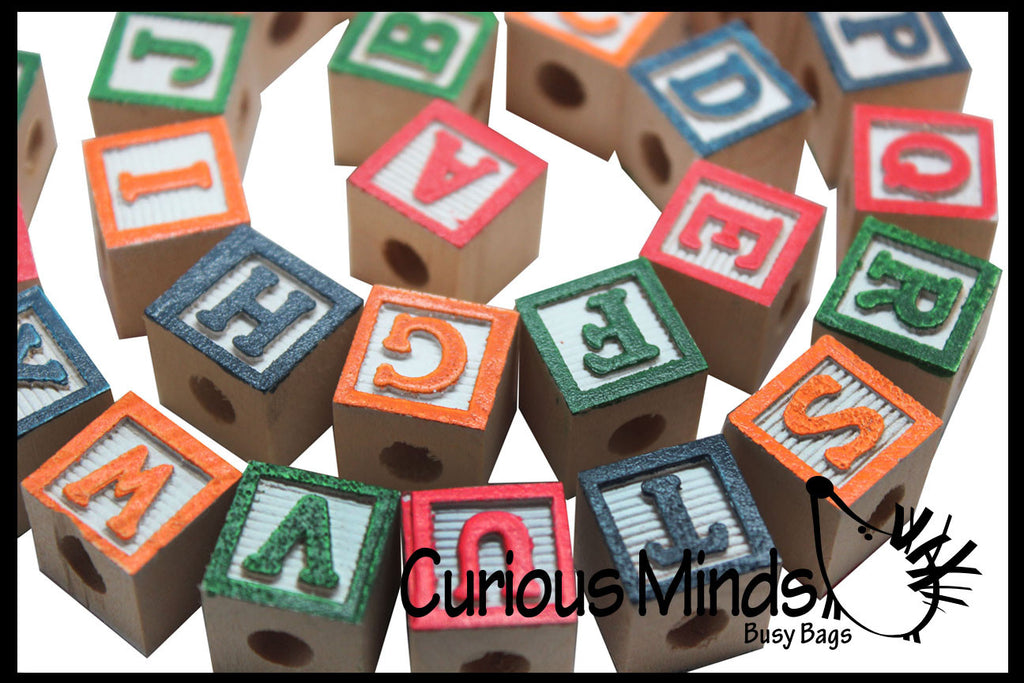 Alphabet Block Wooden Beads