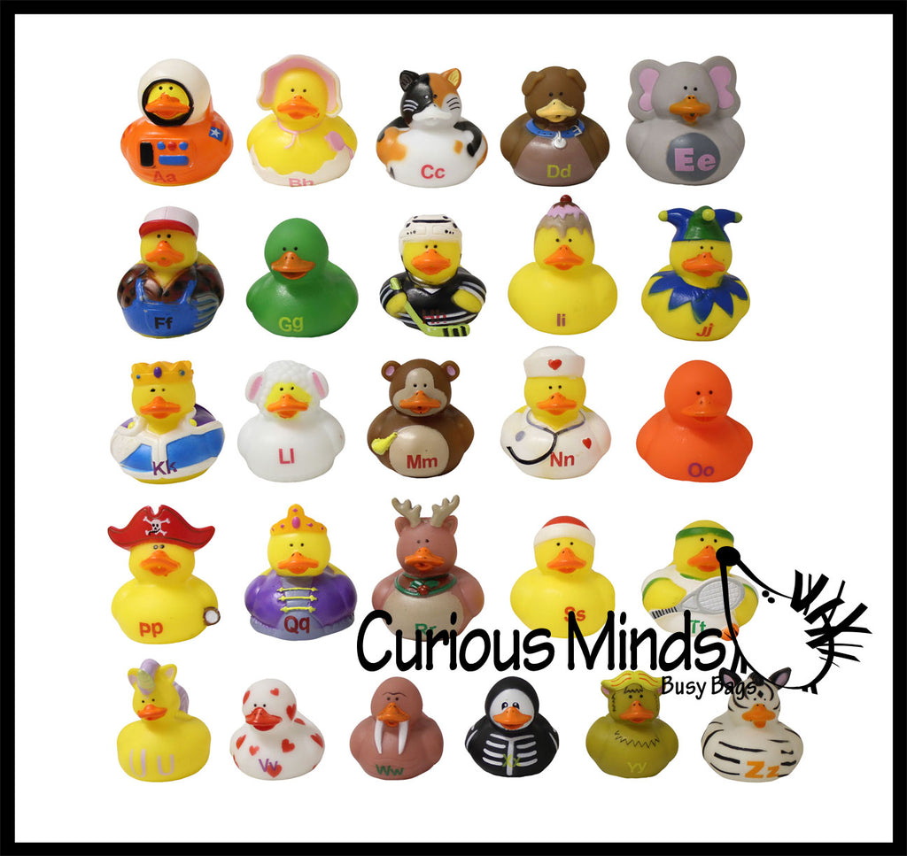 Alphabet objects curious minds busy bags alphabet ducks rubber duckies for each letter of the alphabet language arts objects altavistaventures Images