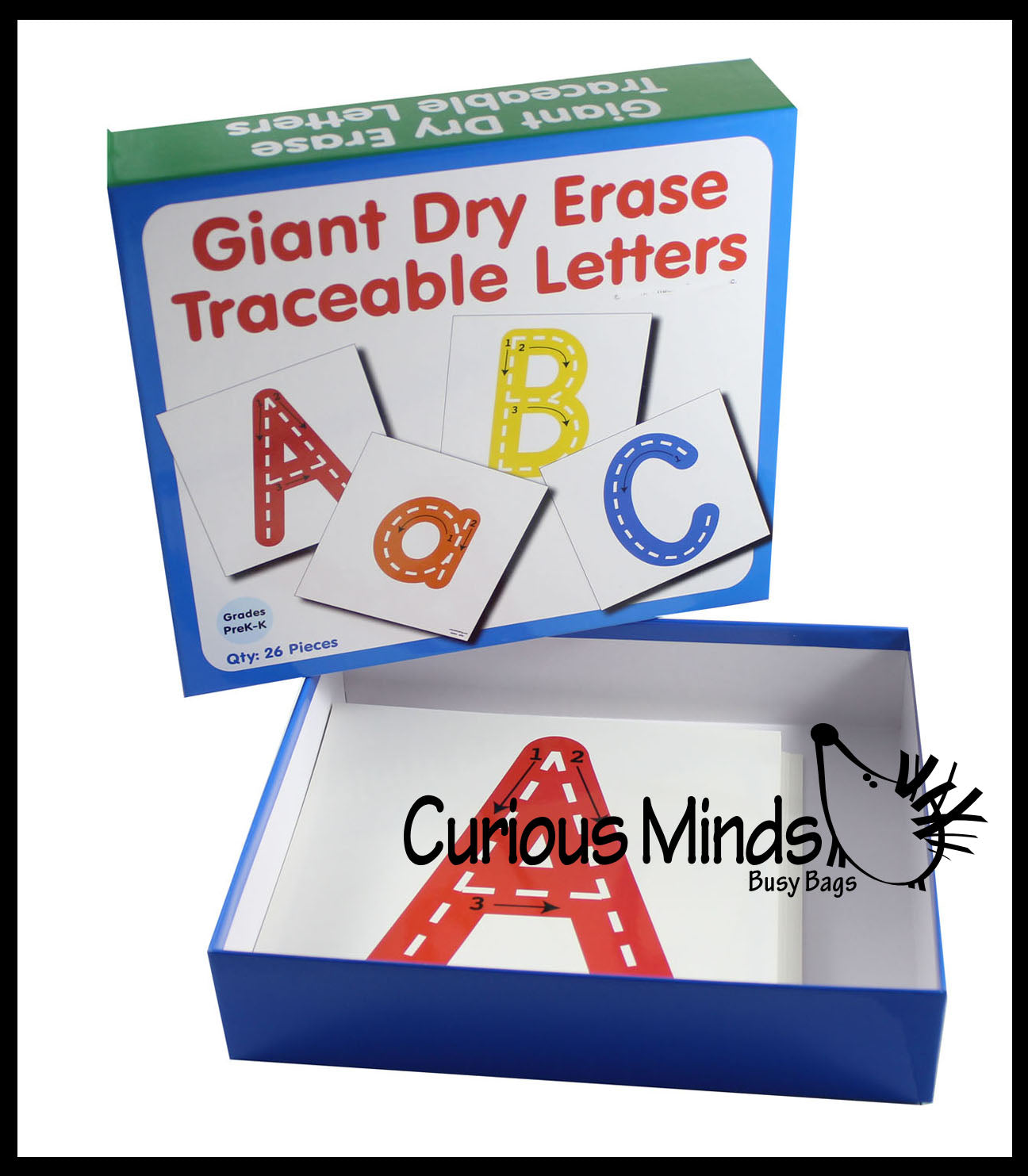 Alphabet Cards - Dry Erase & Wipe Off - Handwriting Tracing Activity Practice Pages - Uppercase & Lowercase Letters